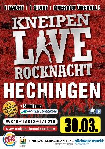 Poster: Kneipen-Liverocknacht Hechingen