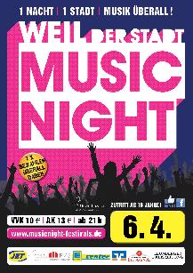 Poster: MusicNight Weil der Stadt