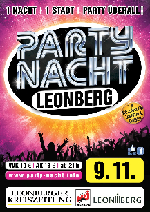 Poster: Partynacht Leonberg