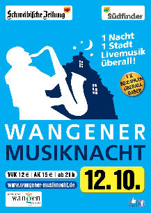 Poster:  Musiknacht Wangen