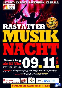Poster: Musiknacht Rastatt
