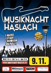 Poster: Musiknacht Haslach