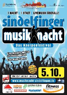 Poster: Musiknacht Sindelfingen