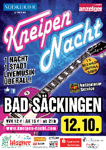 Poster: Kneipennacht Bad Säckingen