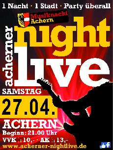 Poster: Acherner Nightlive - Musiknacht