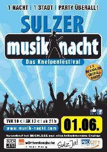 Poster: Musiknacht Sulz am Neckar