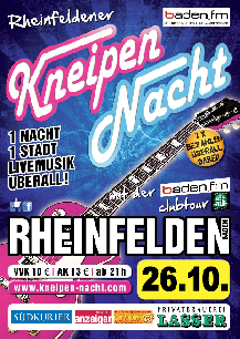 Poster: Kneipennacht Rheinfelden
