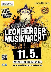 Poster: Leonberger Musiknacht